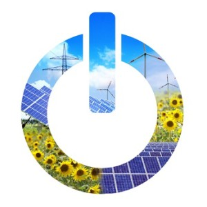 Erneurbare Energien - Einschalt-Knopf